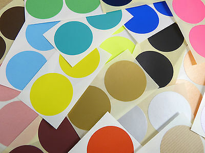 50mm Round Colour Code Stickers - Packs of 20 Coloured Circular Sticky Labels