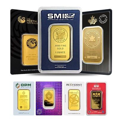 Sale Price - 1 oz Generic Gold Bar .9999 Fine IRA-approved (In Assay)