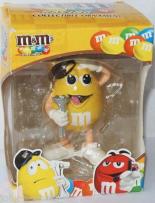 M&M´s NASCAR RACING ORNAMENT - Figur / Figure * YELLOW * Kyle Busch - US-Import