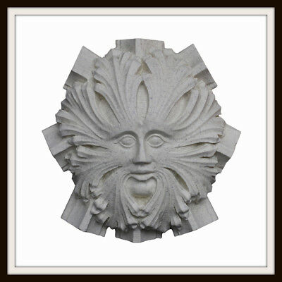Canterbury Cathedral Green Man ~ Greenman Wall Plaque ~ Garden Or Home Uk Made