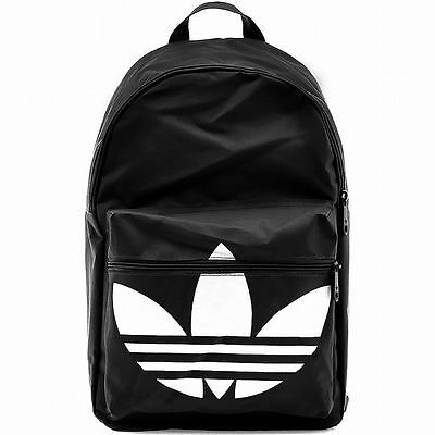 ADIDAS BACKPACK CLASSIC TREFOIL Black-White daypack college school sports new