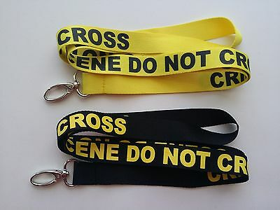 Crime Scene Do Not Cross Lanyards/Keychain, New,FAST Free Shipping