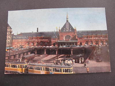 Copenhagen Central Railway Station Postcard