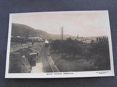 Motor Railway Prestatyn Wales Postcard Photo by Burrows