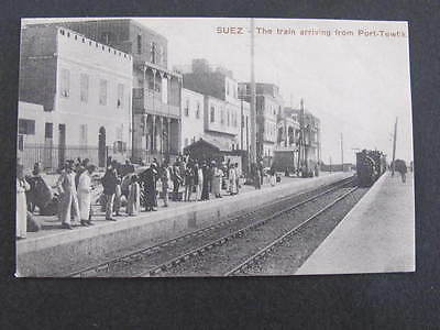 Suez Railway Station Train  Port Tewfik Postcard