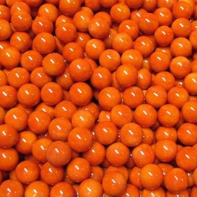 "(1) Marbles Bulk Lot Solid Red-Orange 9/16"" One Pound 99312013"