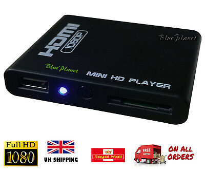 Full HD 1080p HDMI Media Player / Play Any Video From USB Or Memory Card SD