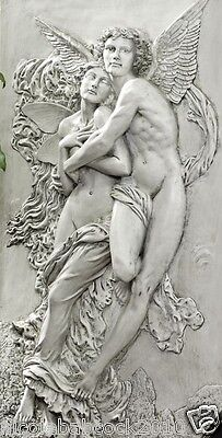 Ancient Greek Overcoming Obstacles Cupid & Psyche Sacred Union Sculpture 18 Lbs