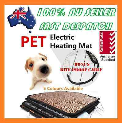2017 Pet Electric Heat Heated Heating Heater Pad Mat Blanket Bed Dog Cat Bunny