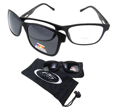 108f2ad31b Polarized BIFOCAL Sunglass Readers Magnetic Magnet CLIP ON Fishing 1.0 2.0  3.0