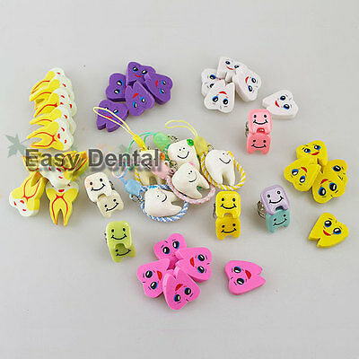 Dental Cell Phone Chain Hang + Finger Rings + Tooth Rubber Erasers Gift Decor