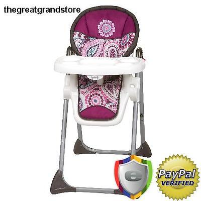 Baby Trend Sit-Right High Chair Paisley Child Booster Recline Dishwasher Tray