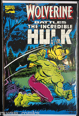 Wolverine Battles The Incredible Hulk Prestige VF 1st Print Marvel Comics