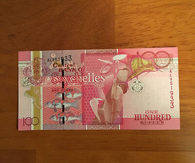 Seychelles ND 2013 100 Rupees P-New  UNC