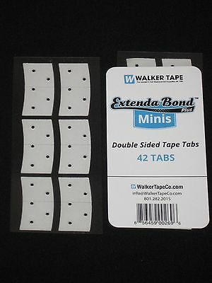 "Walker Extenda Bond Minis Double Sided 3/4""x 1 1/2""Mini Strips 42 Tape Tabs New."