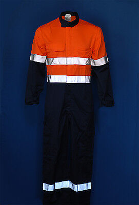PPC Arc Flash + Flame Retardant Hi-Vis orange /navy overall with tape new packed