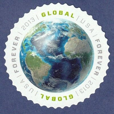 EARTH FOREVER STAMP 2013 GLOBAL USA AIR MAIL 1st IN SERIES INTERNATIONAL POSTAGE