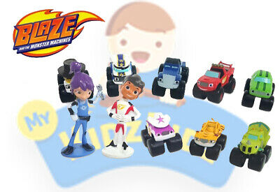 NEW Blaze And The Monster Machines Set of 12 Figures Toy Cake Toppers