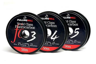 Fulling Mill World Class Fluorocarbon | 50m or 100m | Choice of Breaking Strain