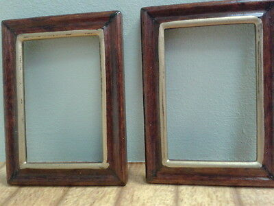 DOLLS HOUSE MINIATURES 1:12 Scale 2 wooden empty picture frames ...