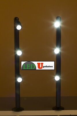 2x showcase black LED pole light FOR Retail BOUTIQUE STORE FY-53 with UL power