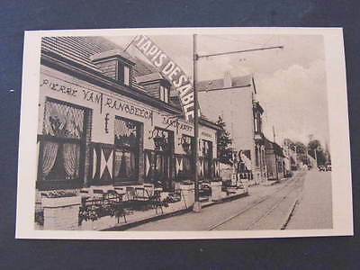 Advertising Tapis de Sable Shop front with large sign vintage Postcard