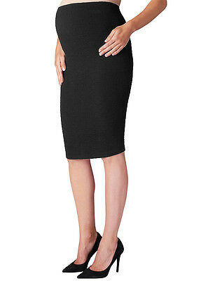 NEW - Supermom - Textured Maternity Skirt in Black