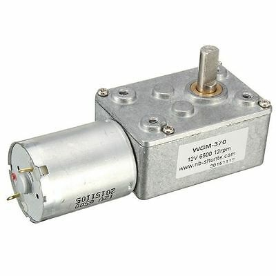 12V 12RPM Worm Turbo Gear Motor Right Angle Gear DC Motor Metal Gearbox For Smar