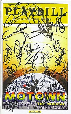 Motown authentic autographed cast signed Broadway playbill COA
