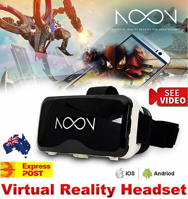 NEW NOON VR Goggles White 3D Virtual Reality Headset iOS Android Gaming iPhone