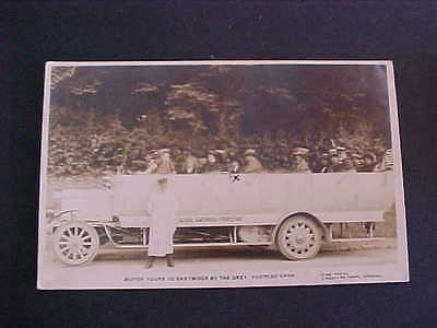 Motor Tours Dartmoor by the Grey Torpedo Cars Postcard