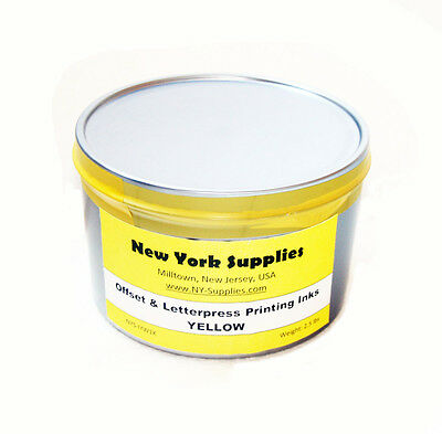 Yellow Offset & Letterpress Printing Ink - 2.5 lbs
