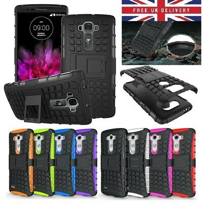 Shockproof Rugged Bumper Tough Hybrid Armor Stand Case Cover For LG Mobile Phone