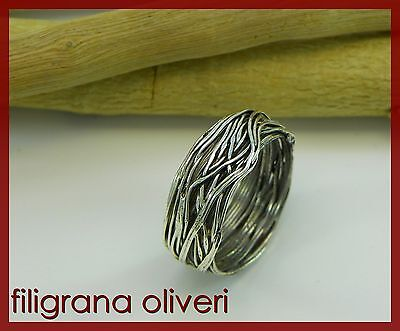 "Anello "" Intreccio "" argento - STRAW Ring in Silver"