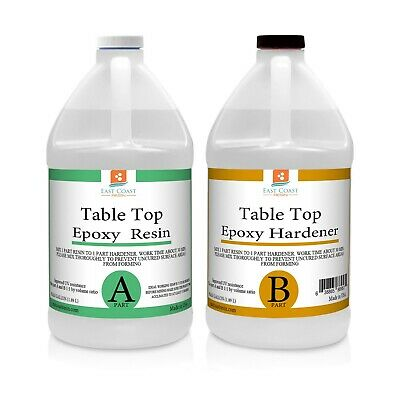 TABLE TOP EPOXY RESIN 1 Gal kit CRYSTAL CLEAR