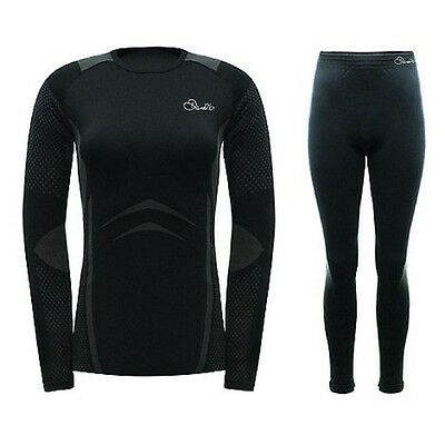 Dare2b Climatise Womens Warm Wicking Thermal Sports Ski Base Layer Set Black