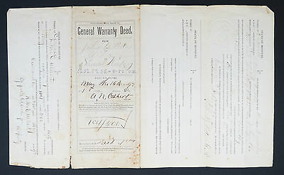 General Warranty Deed - Indenture - State of Missouri - 1897 Document (Lot 5450