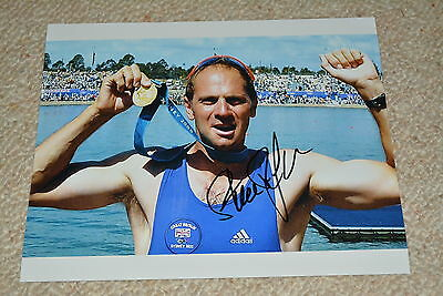 STEVEN REDGRAVE signed Autogramm In Person 20x25 cm 5x Gold OLYMPIA Rudern