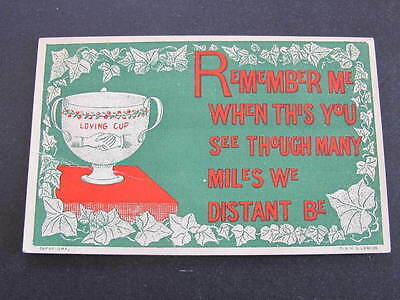 Hands Across the Sea Type Postcard Loving Cup