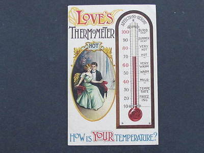Loves Thermometer Temperature Postcard
