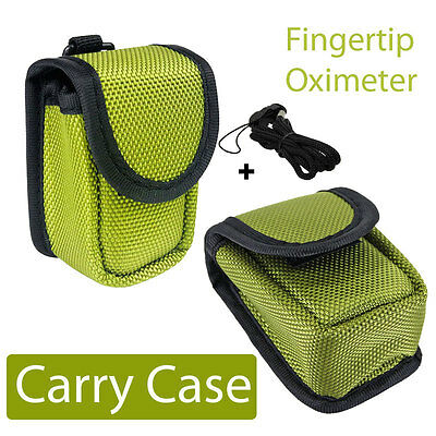 Finger Pulse Oximeter Oxymeter SPO2 Monitor Portable Quality EVA Carry Case