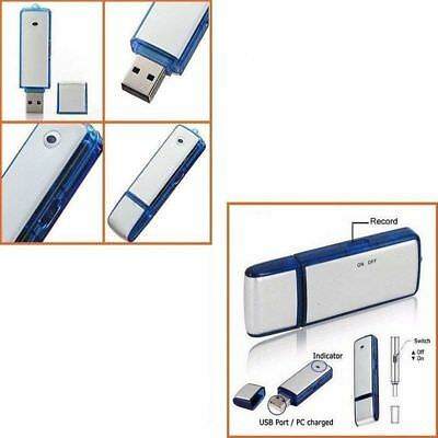 Pen Drive Mini Registratore Vocale 8Gb Audio Voice Usb Disk Recorder Microspia