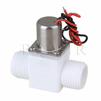 """White 1/2"""""""" DC3.6V Water Control Solenoid Electromagnetic Valve Pulse Width 30ms"""