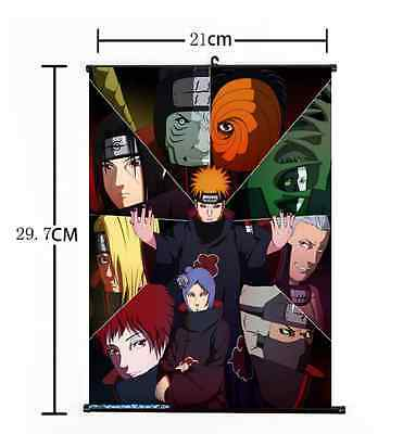 Hot Japan Anime Naturo Itachi Akatsuki Member Home Decor Poster Wall Scroll 013