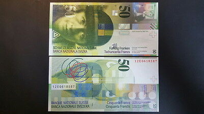 Switzerland / Swiss P-71 2012 50 Francs (Gem UNC)