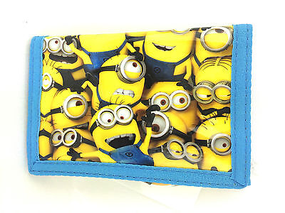 Despicable Me Minions Faces Boys Girls Trifold Money Change Wallet Official New