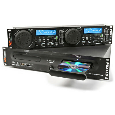 "PD PDX115 PROFESSIONAL DJ Dual USB MP3 SD Scratch FX 19"" Rack Mount CD PLAYER"