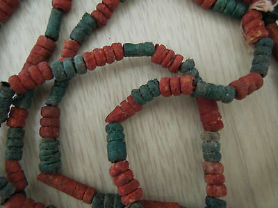 Archaeologist Ancient Egyptian Faience Authentic Mummy Beads Jewelry Necklace BC