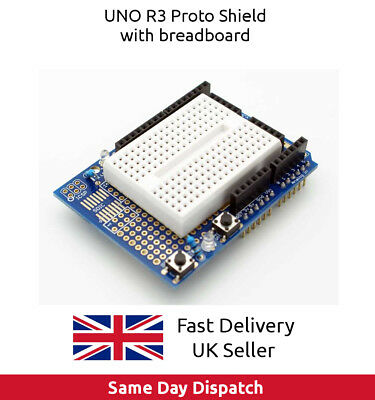 Prototyping Prototype Shield ProtoShield with Mini Breadboard for Arduino UNO UK