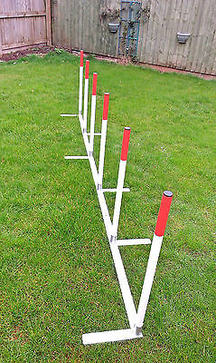 Dog Agility 2x2 Training Weaves In Aluminium 6 weave Pole Set
